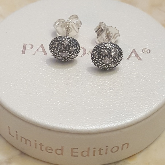 7b884ff78 Pandora Jewelry | Authentic Pave Stud Earrings | Poshmark